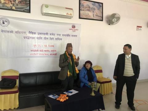 कार्यक्रम बारे बोल्नु हुदै नगर प्रबक्ता श्री हरिभक्त महर्जन